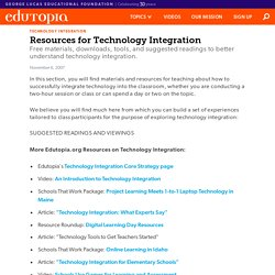 Resources for Technology Integration