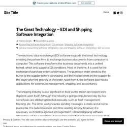 EDI and shipping software Integration