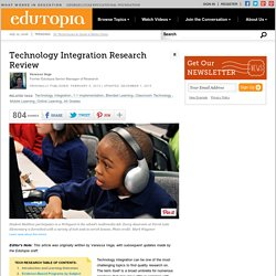 Technology Integration Research Review