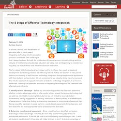 The 5 Steps of Effective Technology Integration - Getting Smart by Dave Guymon - edchat, EdTech, education