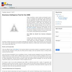 Prudence Technology: Business Intelligence Tool for the SMB