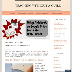 Technology and Interactive Notebooks – Teaching Without a Quill