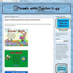 Easter and Spring Interactive Games and Activities