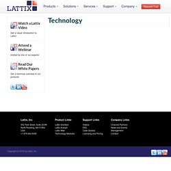 Technology | Lattix Software