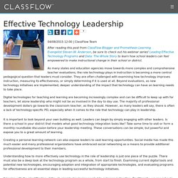 Effective Technology Leadership