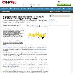 JogNog Named an Education Technology Finalist for 17th Annual Technology Leadership Awards