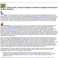 Using Technology to Enhance Engaged Learning for At-Risk Students