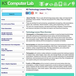 Technology Lesson Plans K-5 Computer Lab