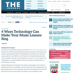 4 Ways Technology Can Make Your Music Lessons Sing