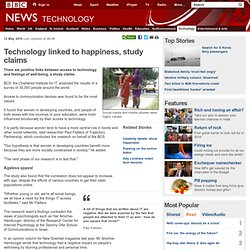 Technology linked to happiness, study claims