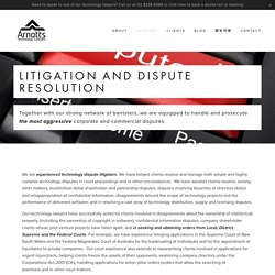 Dispute — Arnotts Technology Lawyers