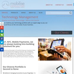 Technology Management - Mobilise Consulting