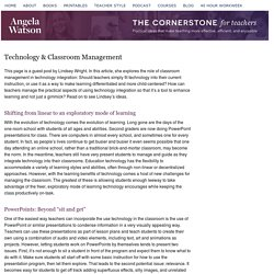 Technology & Classroom Management
