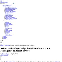 Asimo technology helps build Honda's Stride Management Assist device