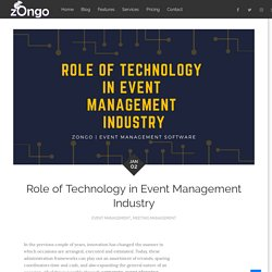Role of Technology in Event Management Industry