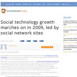 Social technology growth marches on in 2009, led by social netwo