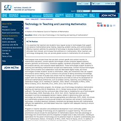 Technology in Teaching and Learning Mathematics