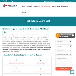 Technology Users List - SAP, Oracle, Microsoft, QuickBook Users Email List