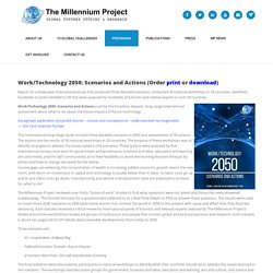 Future Work/Technology 2050 – The Millennium Project