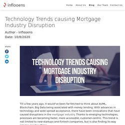Technology Trends causing Mortgage Industry Disruption