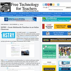 HSTRY - Create Multimedia Timelines in an Online Classroom