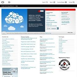 شبكة تقنية أوراكل لمطوري جافا