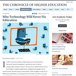Why Technology Will Never Fix Education - Commentary