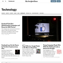 Technology - Start-Up News - The New York Times