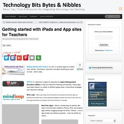 Getting started with iPads and App sites for Teachers