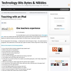 Teaching with an iPad