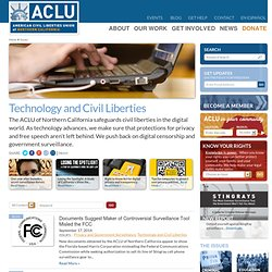 ACLU of Northern California : Technology