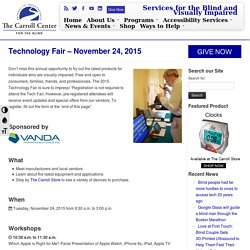 Technology Fair – November 24, 2015