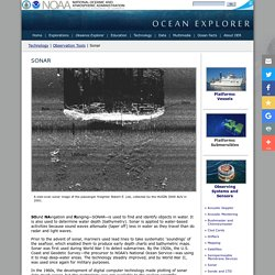 Technology: Observation Tools: SONAR