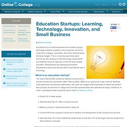 Education Startups: Learning, Technology, Innovation, and Small Business