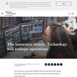 How technology will reshape insurance operations