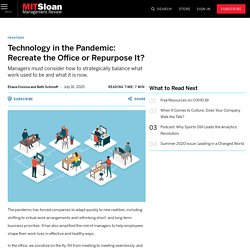 Technology in the Pandemic: Recreate the Office or Repurpose It?