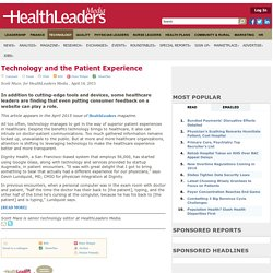Technology and the Patient Experience