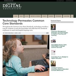 Technology Permeates Common Core Standards