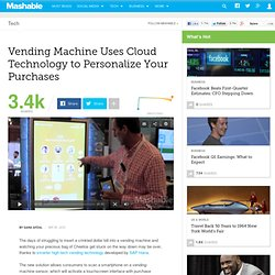 Vending Machine Uses Cloud Technology to Personalize Your Purchases