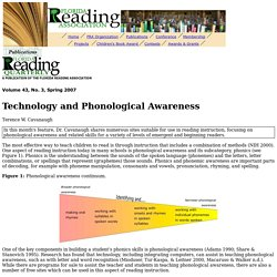 Technology and Phonological Awareness