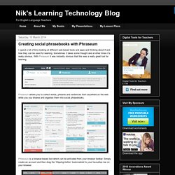 Nik's Learning Technology Blog: Creating social phrasebooks with Phraseum