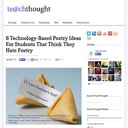 6 Technology-Based Poetry Ideas For Students That Think They Hate Poetry
