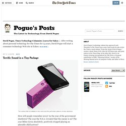 Technology - Pogue's Posts Blog