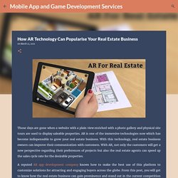 How AR Technology Can Popularise Your Real Estate Business