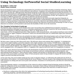 Using Technology for Powerful Social Studies Learning