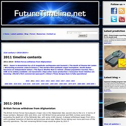 Future | Timeline | Technology | Predictions | Events | 2010 | 2012 | 2015 | 2020 | 2050 | 2100 | 21st century | 22nd century | 23rd century