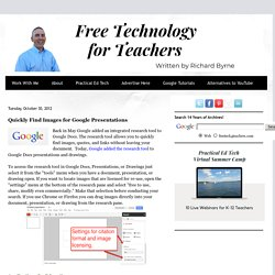 Quickly Find Images for Google Presentations