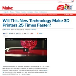 Will This New Technology Make 3D Printers 25 Times Faster? - Make: