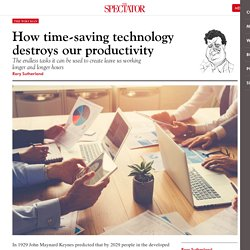 How time-saving technology destroys our productivity