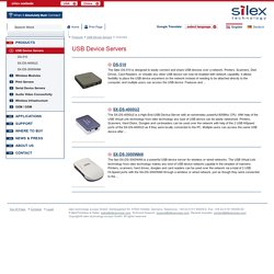 silex technology - Products - USB Device Servers - Overview